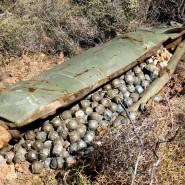Eine israelische Streubombe im Libanon im Jahr 2006