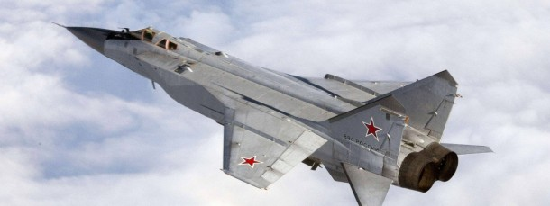 Undatiertes Nato-Handout einer russischen MiG-31. Kampfjets dieses Typs waren auch an den Manövern in den vergangenen Tagen beteiligt