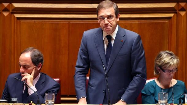 Portugals konservative Regierung vor dem Sturz