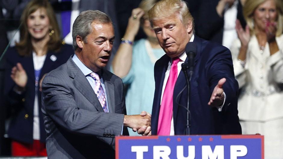 Nigel Farage stand Donald Trump im Wahlkampf bei.