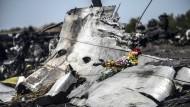 Trümmer des Flugs MH17