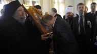 Putin pilgert auf Berg Athos