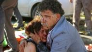 Polizei geht nach Anschlag in Ankara gegen Demonstranten vor
