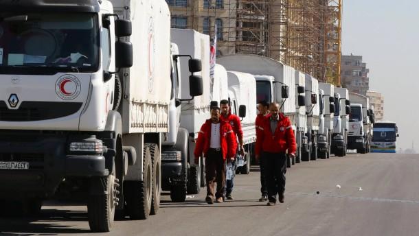 UN-Hilfskonvois starten in belagerte Städte