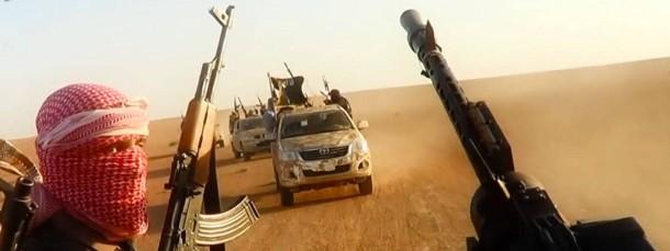 Auf dem Vormarsch: Kämpfer des Islamischen Staats, aufgenommen Anfang Juni im Nordirak