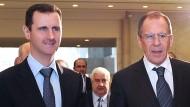 Weiterhin Unterstützung für den syrischen Machthaber Baschar al Assad: der russische Außenminister Sergej Lawrow  (Aufnahme aus dem Jahr 2012)
