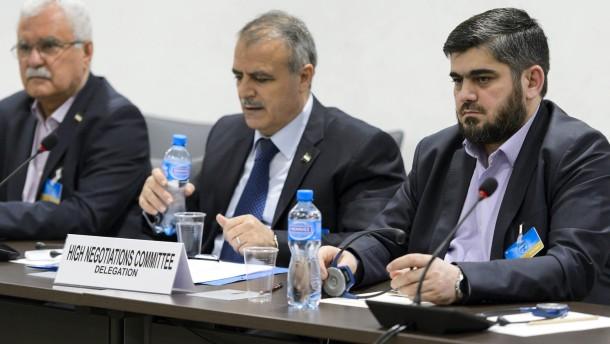 Syrische Opposition reist ab