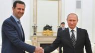 Assad bei seinem überraschenden Besuch in Moskau.
