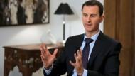 Der syrische Machthaber Baschar al Assad will das ganze Land zurückerobern.