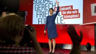 Sahra Wagenknecht ist mit dem Wahlergebnis wohl gar nicht so unzufrieden.