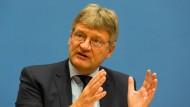 """""""Die Aussagen von Herrn Höcke waren nicht rassistisch"""", der Bundesvorsitzende Jörg Meuthen sieht in der AfD keine rassistischen Positionen vertreten."""