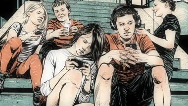 Viele Jugendliche verbringen mittlerweile mehr Zeit mit ihren Smartphones als mit ihren Freunden.