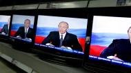 Kein Tag ohne Putin in den Nachrichten: Der Präsident beherrscht die russischen Medien.