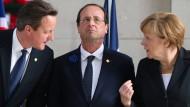 Merkel und Hollande gemeinsam, Cameron einsam