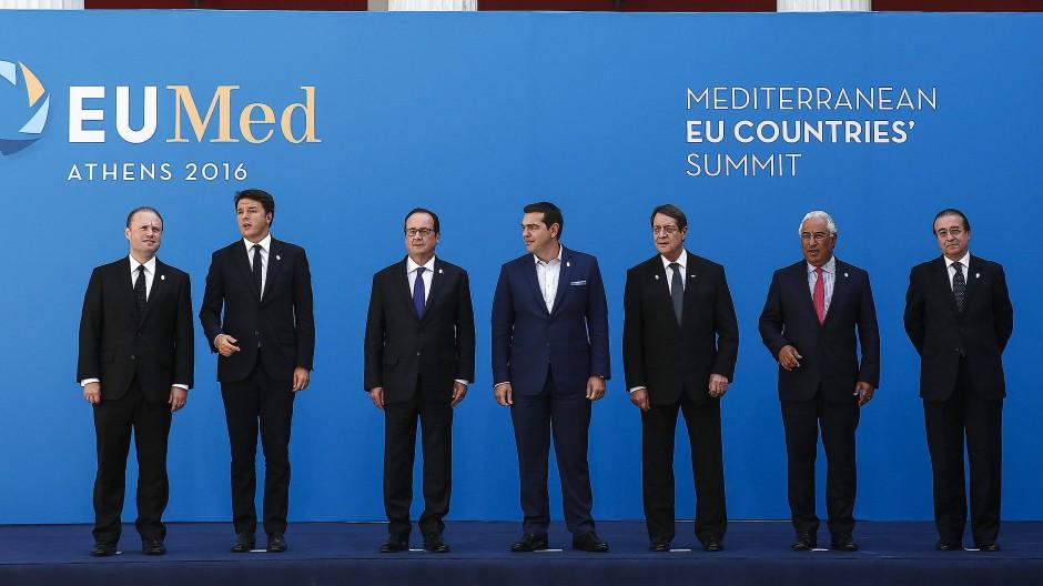 Austeritätsgegner unter sich: Die Mittelmeeranrainer wollen das mediterrane Element in der EU betonen.