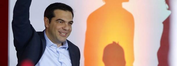 Alexis Tsipras bei einem Wahlkampftermin in Athen.