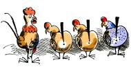 Da lachen ja sogar Putins Hühner: Vor den Oldtimern der Nato braucht niemand Angst zu haben.