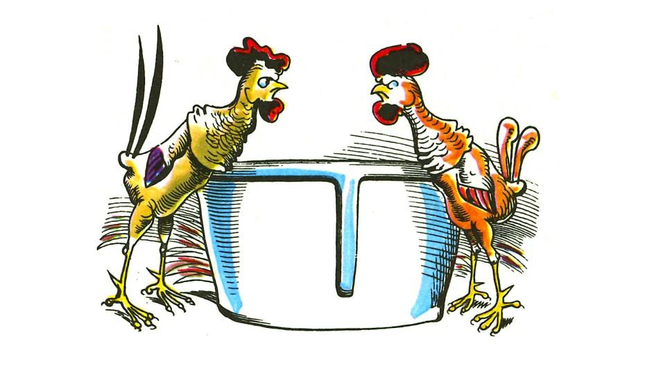 Das gibt nur Ärger: Doppelspitze auf dem Hühnerhof