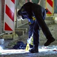Am 5. Oktober in Dresden: Kriminaltechniker sichern Spuren am Tatort.
