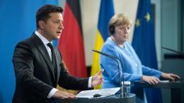 Warum Selenskyjs Besuch für Merkel eine Gratwanderung ist