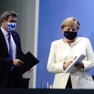 Ende September in Berlin: Angela Merkel (CDU) und Markus Söder (CSU) stellen die Ergebnisse der Beratungen über das weitere Vorgehen in der Corona-Pandemie vor.