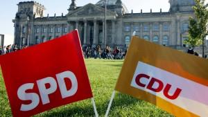 Volksparteien schrumpfen, die AfD wächst