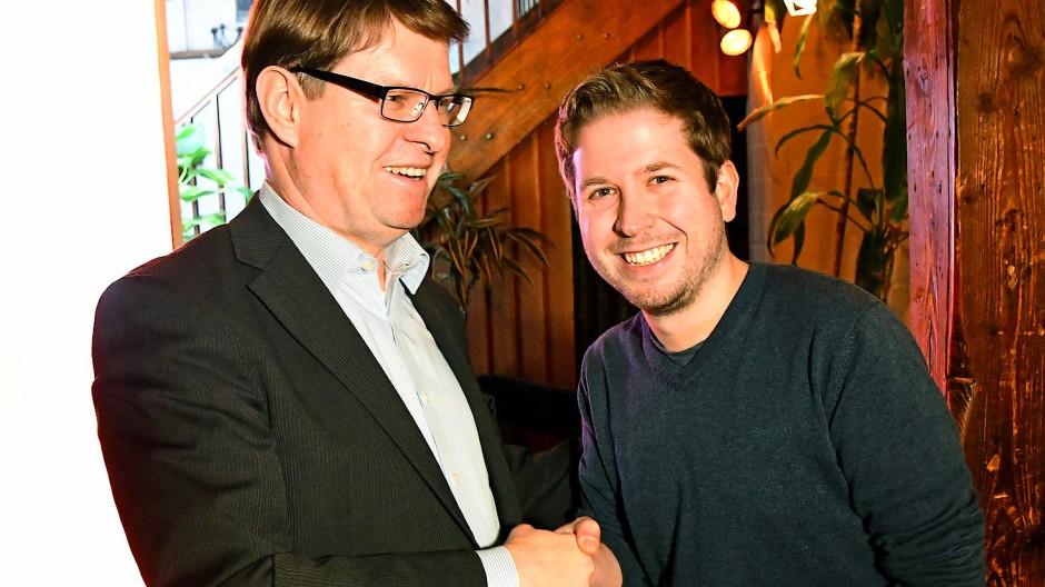 Ralf Stegner und Kevin Kühnert im Januar in Kiel