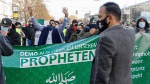 Demo gegen Beleidigung des Propheten Mohammed