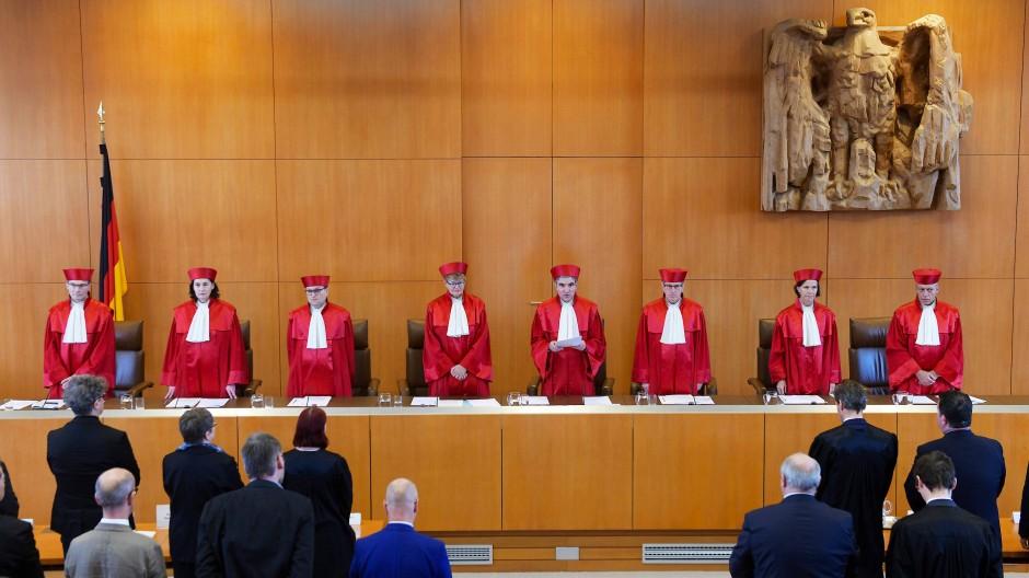 Karlsruhe: Der Erste Senat des Bundesverfassungsgerichts