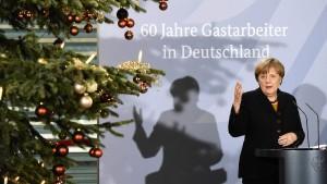 Merkel: Arbeit bleibt die beste Integration