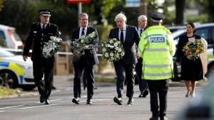 Premierminister Johnson besucht Tatort