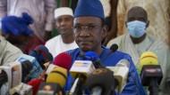 Der Regierungschef von Mali, Choguel Maiga, am 28. Mai vor Journalisten