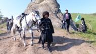 Folklore mit todernstem Hintergrund: Ramsan Kadyrow inszeniert sich und sein Regime.