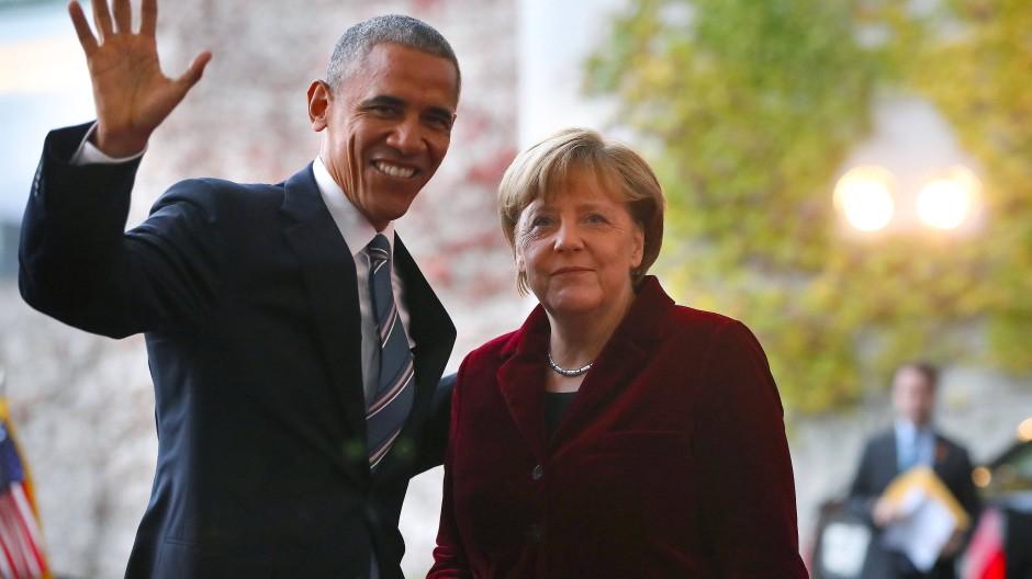 Ein letzter Besuch als Amerikanischer Präsident in Berlin. Obama bezeichnet Bundeskanzlerin Merkel als seine wichtigste internationale Verbündete.