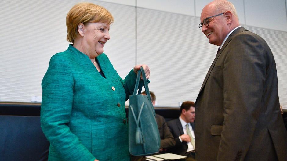 Von Anfang an zusammen: Seit Angela Merkel von 13 Jahren zur Bundeskanzlerin gewählt wurde, ist Unionsfraktionschef Volker Kauder an ihrer Seite.