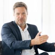 Robert Habeck im Juli in Frankfurt