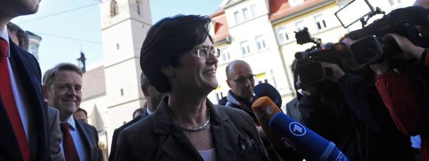 Will die Zusammenarbeit mit der SPD verlängern: CDU-Ministerpräsidentin Christine Lieberknecht