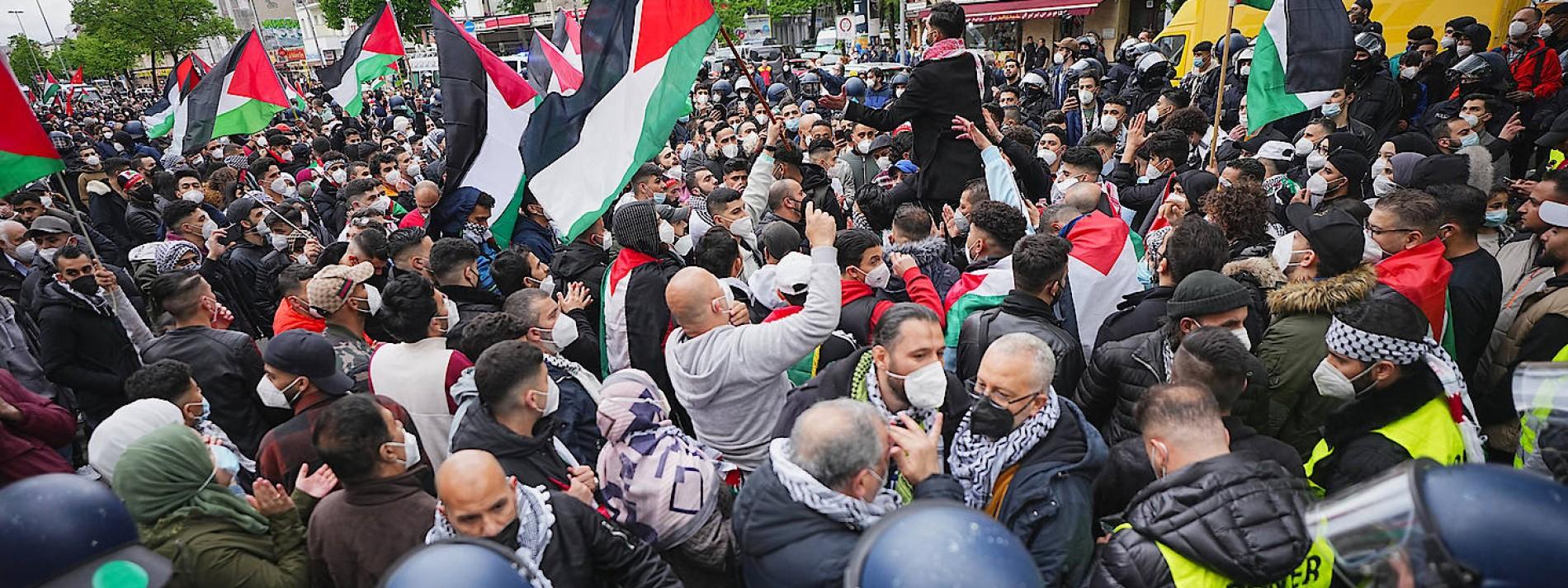 Proteste mit Palästina-Flaggen in Berlin und Dresden