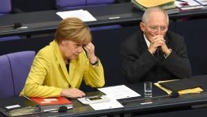 Die Kanzlerin und ihr Minister