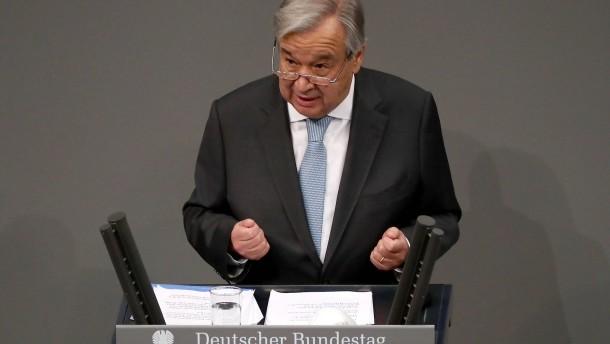 Guterres beklagt Zunahme von Hetze und Hass