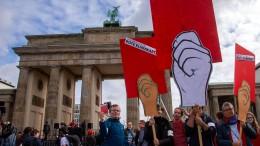 Klimademo startet am Brandenburger Tor