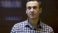 Der russische Oppositionsführer Alexej Nawalnyj im Februar im Bezirksgericht Babuskinskij in Moskau