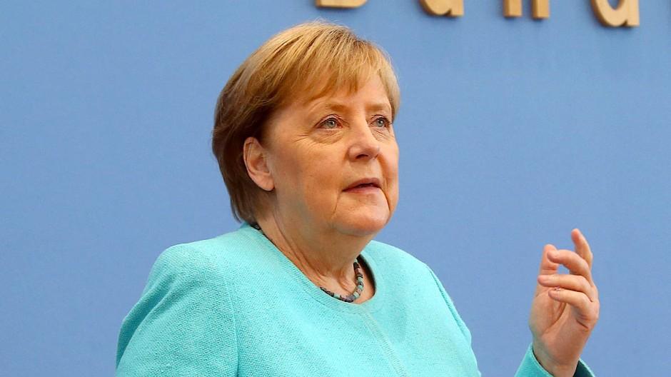 Bundeskanzlerin Angela Merkel (CDU) am Donnerstag in Berlin