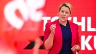 Franziska Giffey (SPD) am 27. August 2021 in Berlin