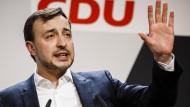 "CDU-Generalsekretär Paul Ziemiak spricht bei der Veranstaltung ""Europa-Dialog"" in Berlin"