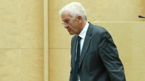 Winfried Kretschmann (Grüne) nach seiner Rede im Bundesrat