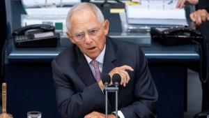 """Schäuble prangert """"Gewaltexzesse"""" an"""