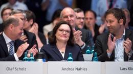 Andrea Nahles mit 66,35 Prozent gewählt