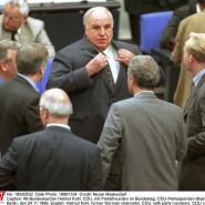 Helmut Kohl in der Zeit der Spendenaffäre im Bundestag.