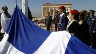 Feier anlässlich des 70. Jahrestages der Befreiung Athens am 12. Oktober 2014